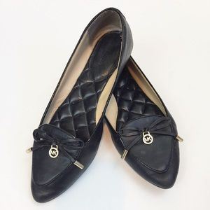 Michael Kors Nancy Pointed Leather Flats size 7